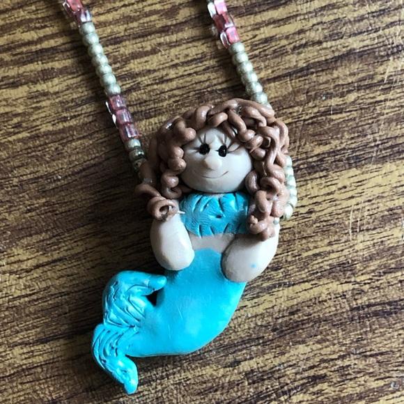 Brunette Mermaid Necklace